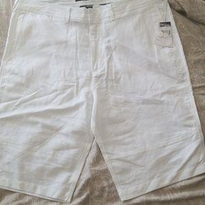 NWT White linen/Cotton blend  shorts